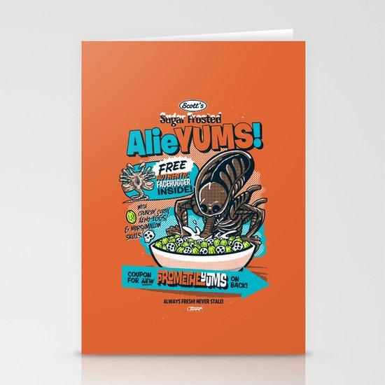 AlieYUMS! (orange variant) Stationery Card