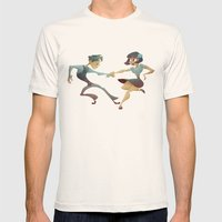 Swing Dance 2 Mens Fitted Tee Natural SMALL