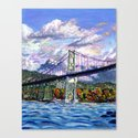 The Lion's Gate, Vancouver Canvas Print