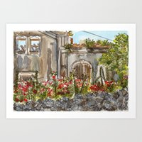 OLD HOUSE Art Print