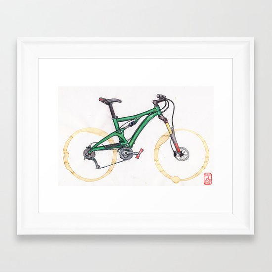 Coffee Wheels #10 Framed Art Print