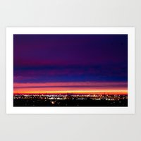 Yesterday's sunset Art Print