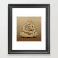 A fairy tale Framed Art Print