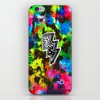Neon Lightning iPhone & iPod Skin