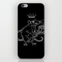 Rat King (white) iPhone & iPod Skin