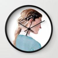Blond Girl Wall Clock