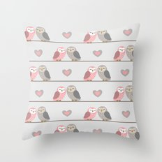 Owls in ♥ Throw Pillow
