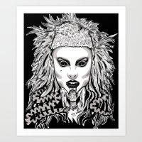 Die Antwood Inspired Illustration Art Print