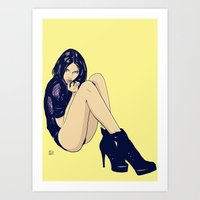 Legs And Shoes Art Print