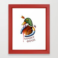 Lucky Duck Framed Art Print