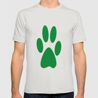 Paw Mens Fitted Tee Silver SMALL