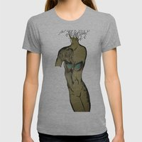 Tree of Life Womens Fitted Tee Athletic Grey SMALL