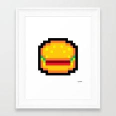 Meat Burger Framed Art Print