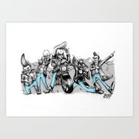 Greasers Art Print