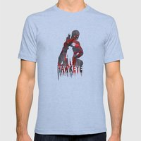 Hawkeye Print Mens Fitted Tee Athletic Blue SMALL