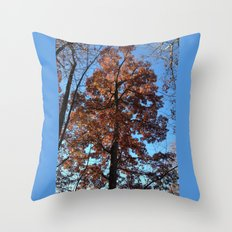Oak Tree at Dawn Throw Pillow