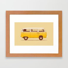 Yellow Van Framed Art Print
