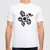 Mosaic Flower Mens Fitted Tee Ash Grey SMALL