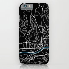 Sarajevo city map black colour iPhone 6 Slim Case