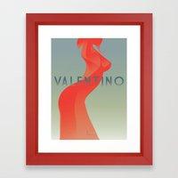 HOMAGEtoFASHION_Valentin… Framed Art Print