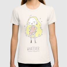 Whatever Womens Fitted Tee Natural SMALL