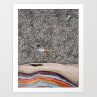 Art Print featuring Falling  by Nati Villie