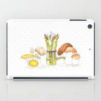 asparagus and mushrooms iPad Case