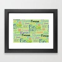 Funsies Framed Art Print
