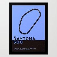 Legendary Races - 1959 Daytona 500 Art Print