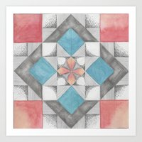 Mosaic Sakura Art Print
