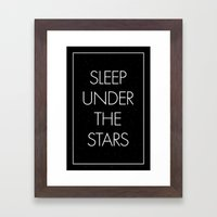 Sleep Under The Stars Framed Art Print