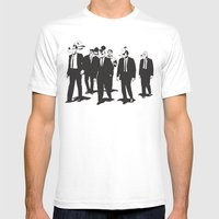 Walt's Protection Crew Mens Fitted Tee White SMALL