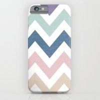 MUTED CHEVRON {COOL TONES} iPhone 6 Slim Case