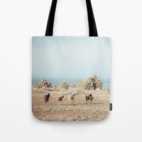 Oregon Wilderness Horses Tote Bag