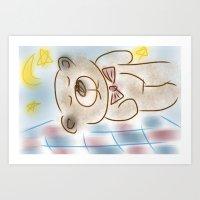 Bedtime Bear Art Print