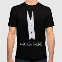 HANGinTHERE Mens Fitted Tee Black SMALL