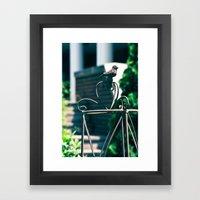 Steel Winged Bird Framed Art Print