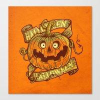 Halloween orange Canvas Print