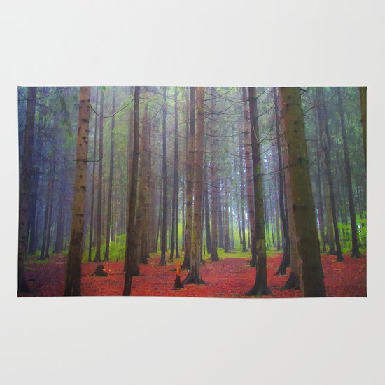 Back to the forest Area & Throw Rug