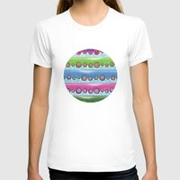 Tentacles Womens Fitted Tee White SMALL