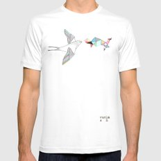 bird White SMALL Mens Fitted Tee