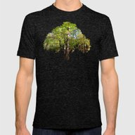 MM - Autumnally Forest Mens Fitted Tee Tri-Black SMALL