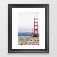 Golden Gate Blur Framed Art Print