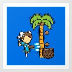 Part Time Job - Coconut Farm Art Print