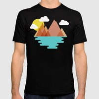 August Mens Fitted Tee Black SMALL
