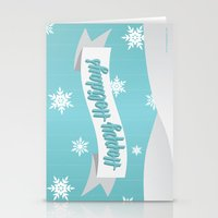 Holiday Snow Stationery Cards