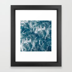 Sea water Framed Art Print