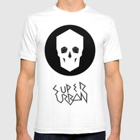 Super Urban Mens Fitted Tee White SMALL
