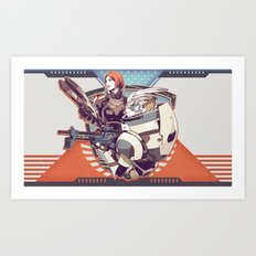 Mass Effect : Shep & Garrus v.2016 Art Print