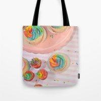 rainbow cupcakes Tote Bag